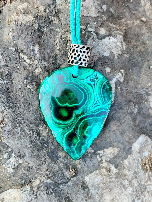 «Centrage dans le Cœur Sacré» Azurite - Malachite