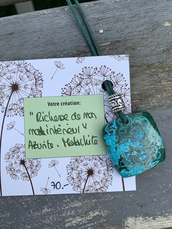 Azurite-malachite «Richesse de mon monde intérieur»