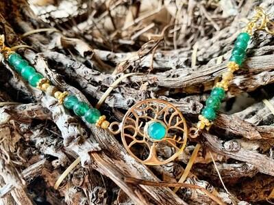 Bracelet Arbre de Vie , Reliance À sa vraie Nature, en Aventurine verte