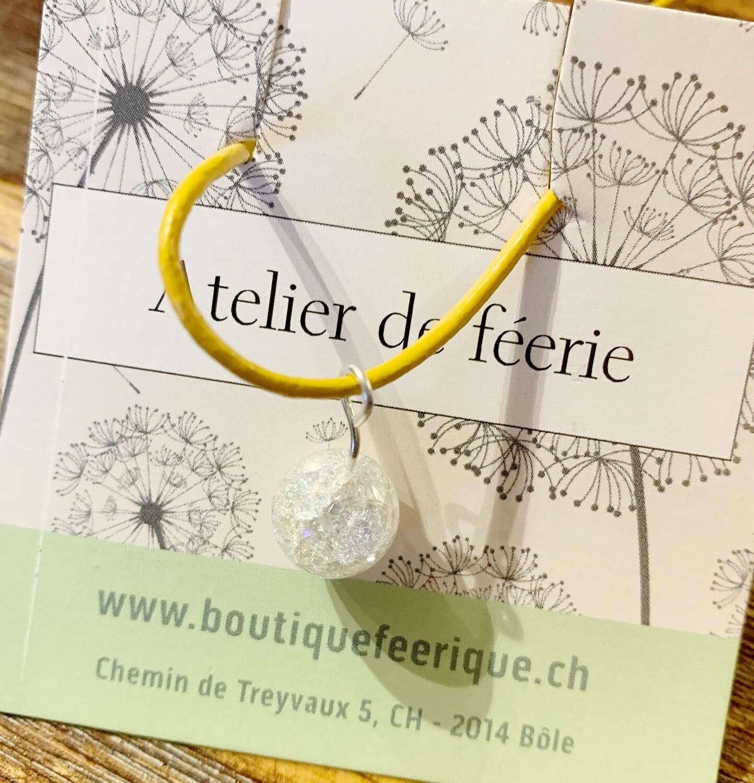 Collier magique et thérapeutique qui appelle les licornes 🦄 «soleil» avec cristal de roche «aqua aura»