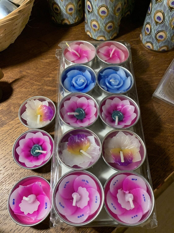 Set de 10 bougies fées des fleurs