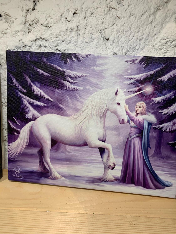 «La cailleach» toile tendue sur cadre, Reproduction d'Anne Stokes , 25x19cm