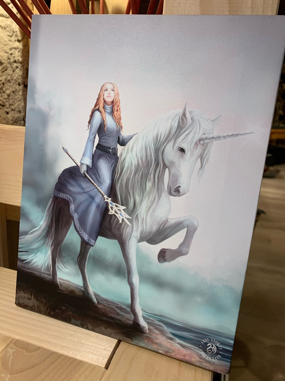 «Diane » toile tendue sur cadre, Reproduction d'Anne Stokes , 25x19cm