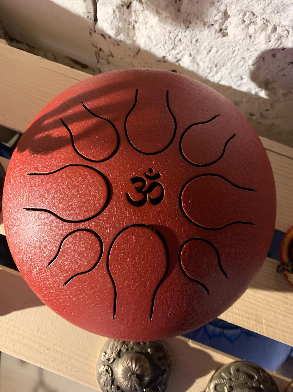 «Ancrage et abondance» sky drum qui travaille sur le 4eme chakra