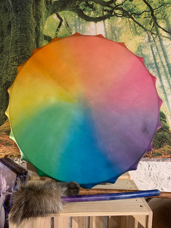 «Médecine des licornes» tambour de Pan multicolore pour cérémonies magiques