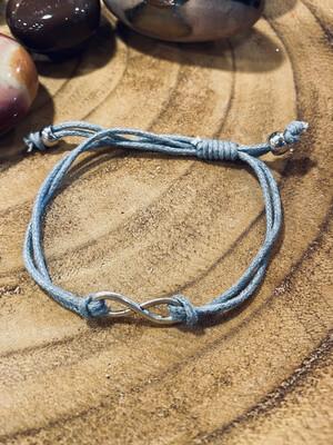 Bracelet infini gris