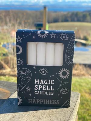 Bougie pour rituels (paquet de 10) blanc / bonheur