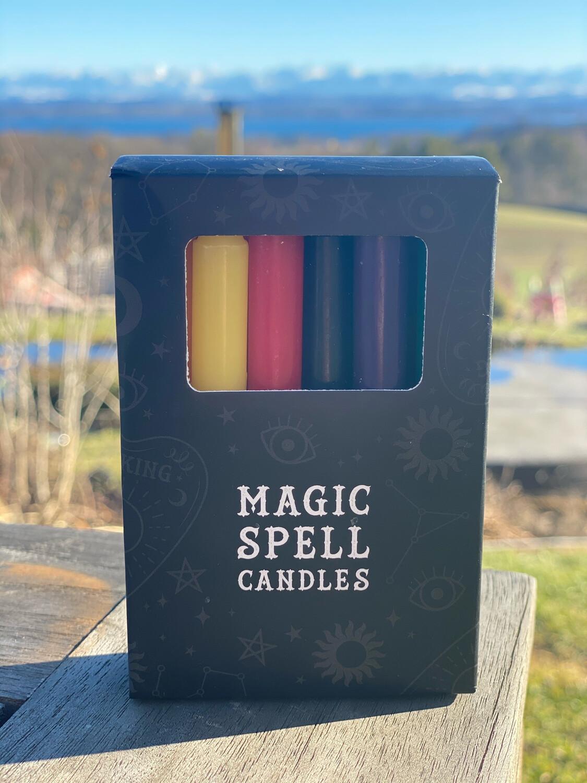 Bougie pour rituels (paquet de 10) multicolore