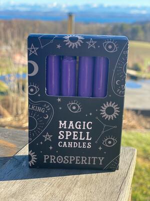 Bougie pour rituels (paquet de 10) violet / prospérité