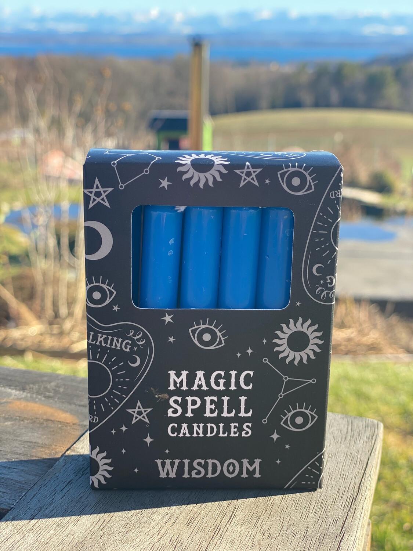 Bougie pour rituels (paquet de 10) bleu ciel / sagesse