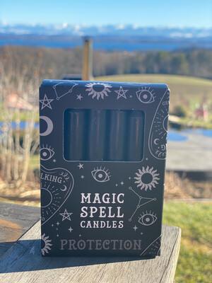 Bougie pour rituels (paquet de 10) noir / protection
