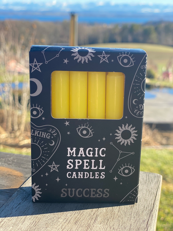Bougie pour rituels (paquet de 10) jaune / succès