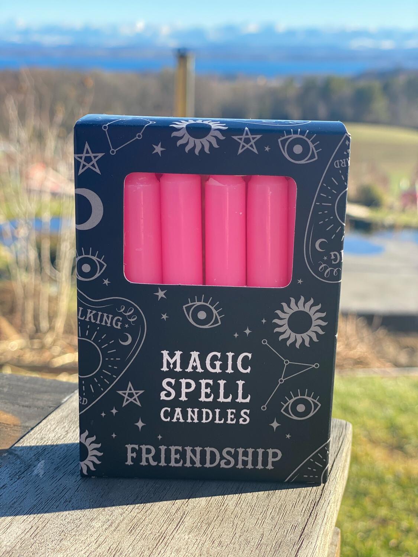 Bougie pour rituels (paquet de 10) rose / amitié