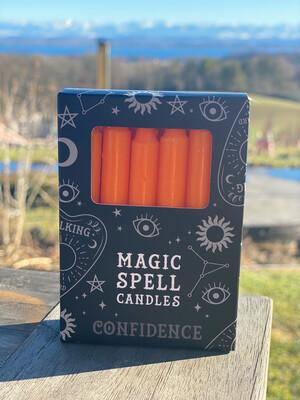 Bougie pour rituels (paquet de 10) orange / confiance