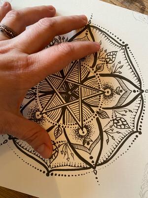 Carte postale mandala spécial «Imbolc» pour s'ancrer
