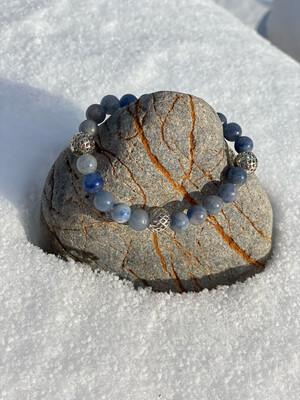 «Faire de la place» quartz bleu