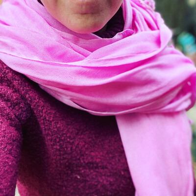 Pachmina 100% cachemire pour le Nepal couleur rose