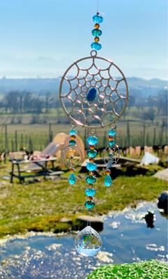 Carillon «esprits de l'eau» avec turquoise