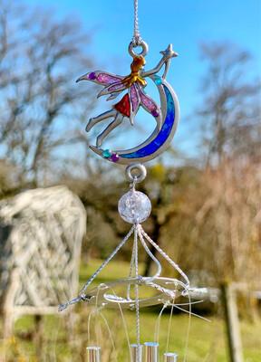 Carillon «fées du jardin, esprit de la rosée»