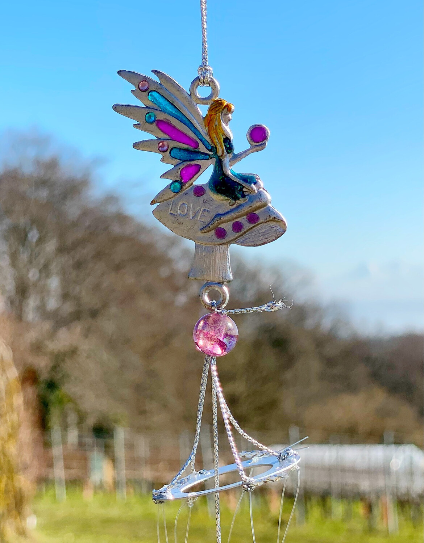 Carillon «fées du jardin, esprit de l'amour»