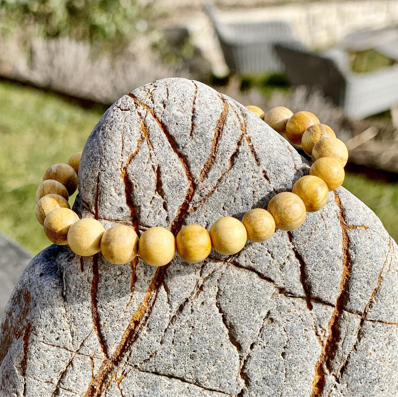 Bracelet de Palo santo (bois sacré de protection) taille Des perles M