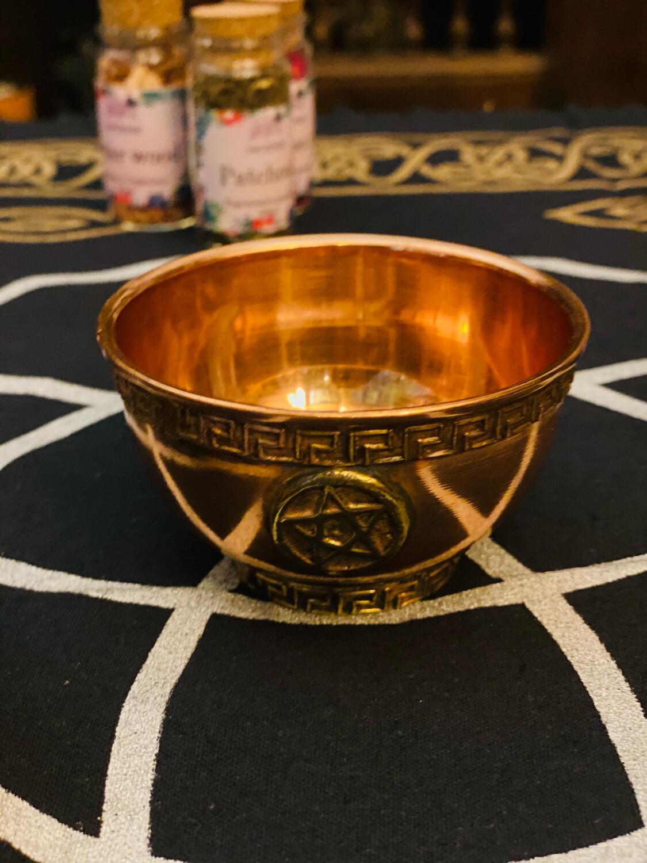 Bol à offrande en cuivre «pentagramme»
