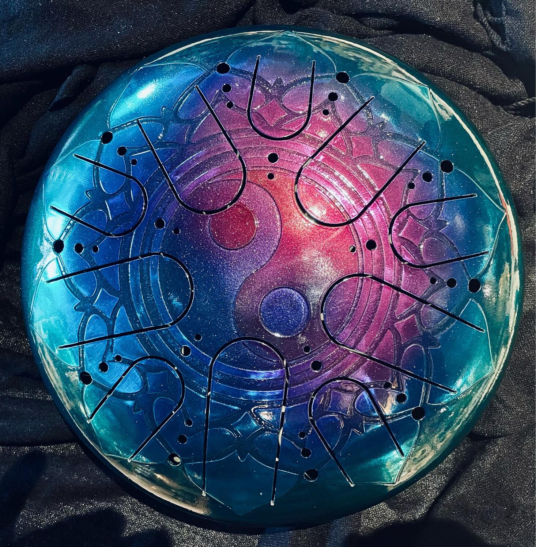 «Magie et équilibre» Sky drum en 432Hz avec symbole Yin et Yang