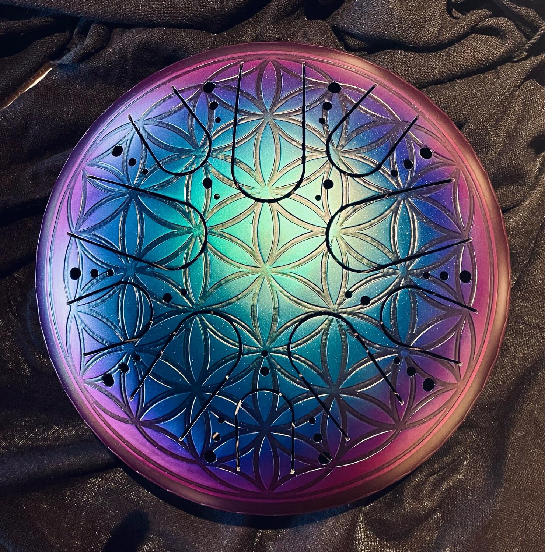 RÉSERVÉ SYLVIE F. «La magie des rêves» Sky drum en 432Hz avec fleur de vie