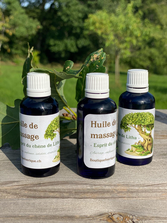 LITHA : huile de massage d'ancrage «esprit du chêne» 50ml