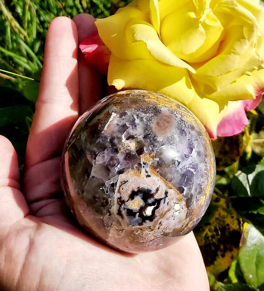 Sphère d'améthyste chevron n°235