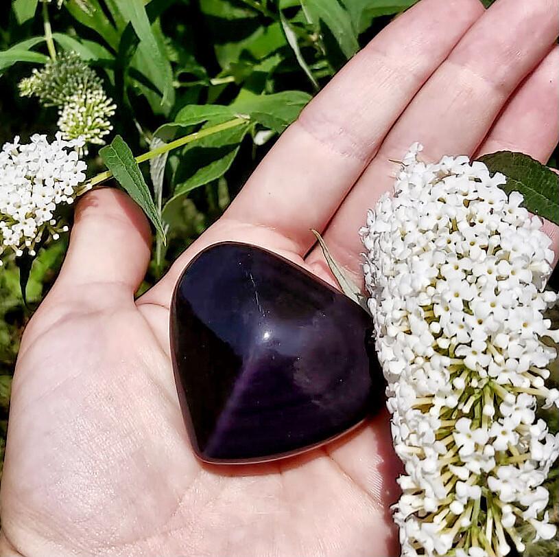 Obsidienne œil céleste violet n°252