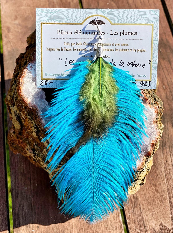 «Les couleurs de la nature» boucle d'oreille avec fermoir en argent 925