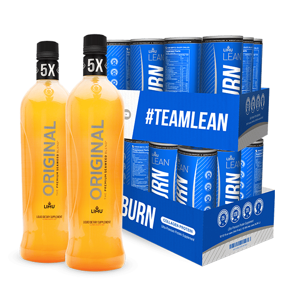 LIMU ORIGINAL® & LIMU LEAN® BURN Combo (2 bottles 24 cans)