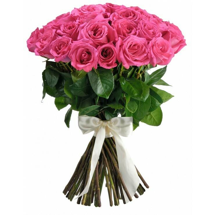 """Букет из 11 роз """"Пинк флойд"""" 70 см высотой"""