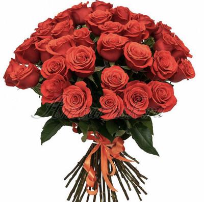 """Букет из 17 роз """"Нина"""" 60 см высотой"""