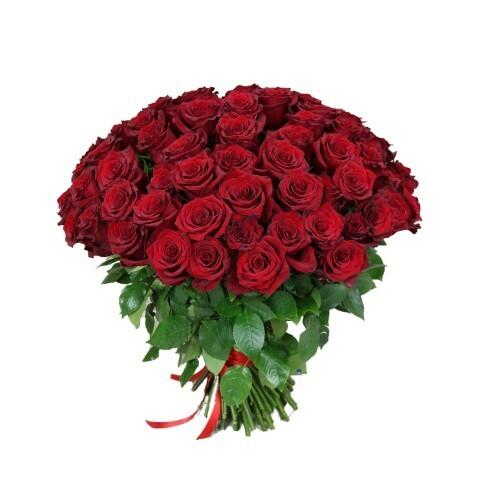 """Букет из 21 роз """"Эксплорер 70 см высотой"""