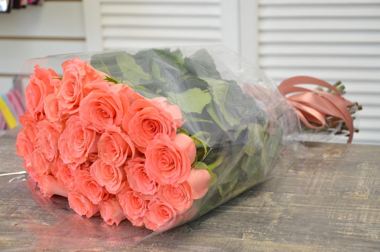 """Букет из 21 роз """"Амстердам"""" 50 см высотой"""