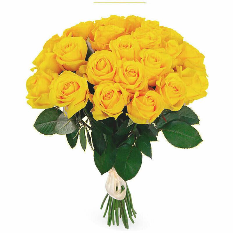 """Букет из 11 роз """"Супер сан """" 50 см высотой"""