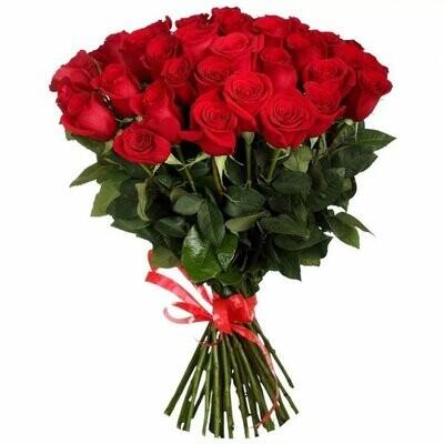 """Букет из 25 роз """"Фридом"""" 70 см высотой"""
