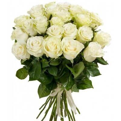 """Букет из 15 роз """"Мондиаль""""  60 см высотой"""