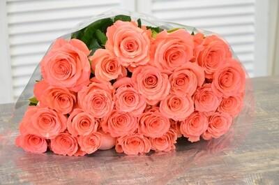 """Букет из 25 роз """"Амстердам"""" 50 см высотой"""