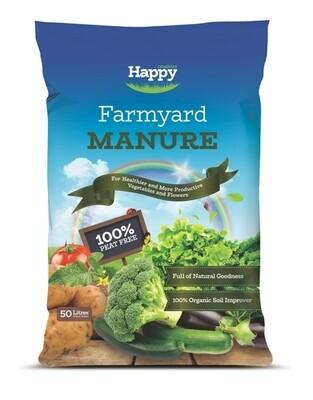 Farm Yard Manure 50 Litre Bags Happy-FYM