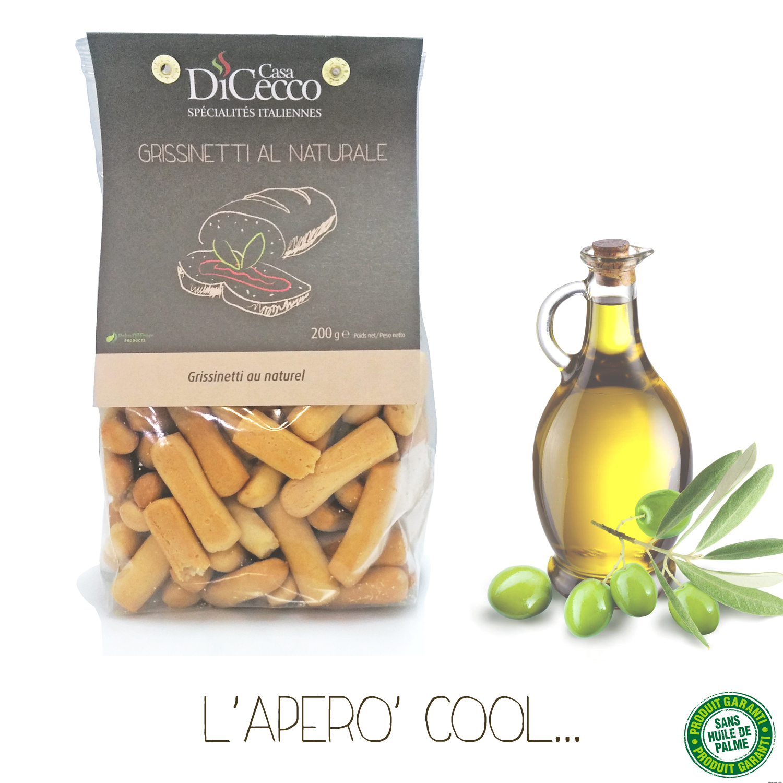 Grissinetti Au Naturel (à L'huile D'olive Extra Vierge)