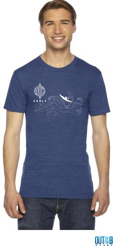SKILS T-shirt Blue - XLarge