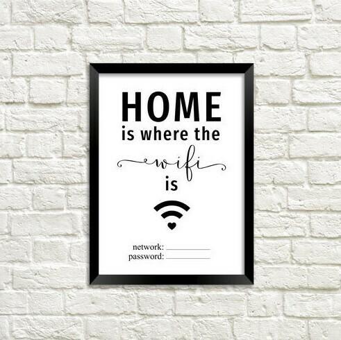Постер в рамці (А5) Wi Fi