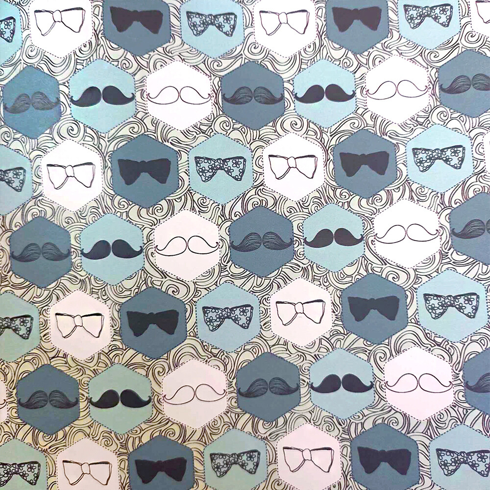 Папір з принтом «Mustaches» (1 лист)