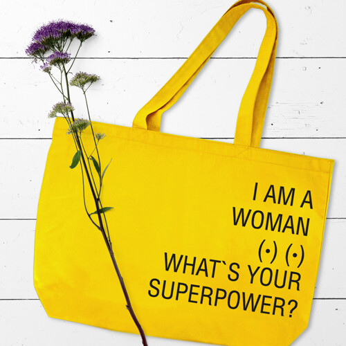 Еко сумка «Market MAXI» з принтом I am a woman