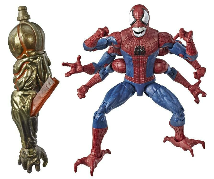 Spider-Man Marvel Legends Doppelganger Spider-Man (Molten Man BAF)