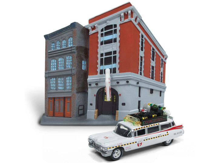 Ghostbusters Headquarters With 1/64 Scale Ecto-1A 1959 Cadillac