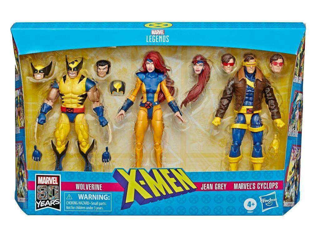 Marvel Comics 80th Anniversary Marvel Legends X-Men Three-Pack